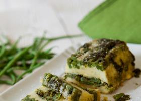 In cucina con le erbe aromatiche: terrina di fagiolini al pesto