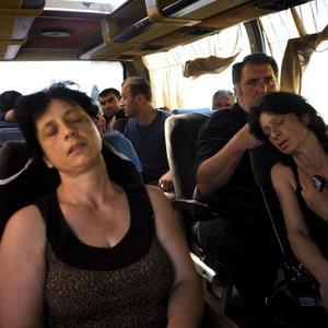 Una scena del 13 agosto 2008 – Località: sulla strada tra Gori e Tbilisi, in Georgia.