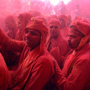 Latthmaar Holi festival