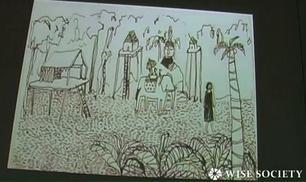 Un cartone animato sulle infradito che diventano pezzi di design