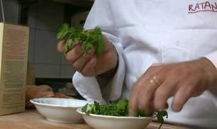 Il risotto al crescione dello chef Battisti