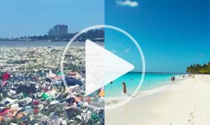 Un mare di plastica invade Santo Domingo