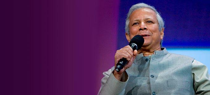 Muhammad Yunus:  «Fare soldi è una felicità, rendere gli altri contenti è una felicità super»