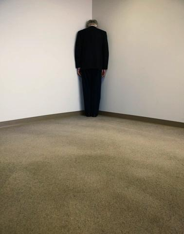 Senior Man Standing in Corner, Bill Varie/CORBIS
