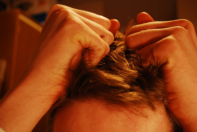 Hair pulling stress, photo by stuartpilbrow/Flickr