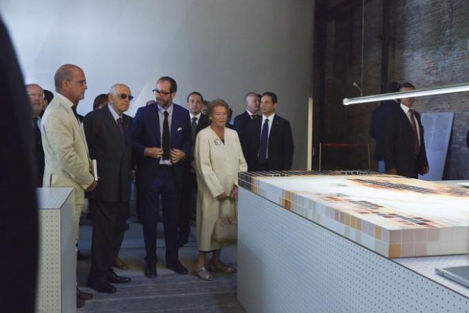 Visita del presidente Napolitano al padigliano italiano in occasione della Biennale di Venezia 2011