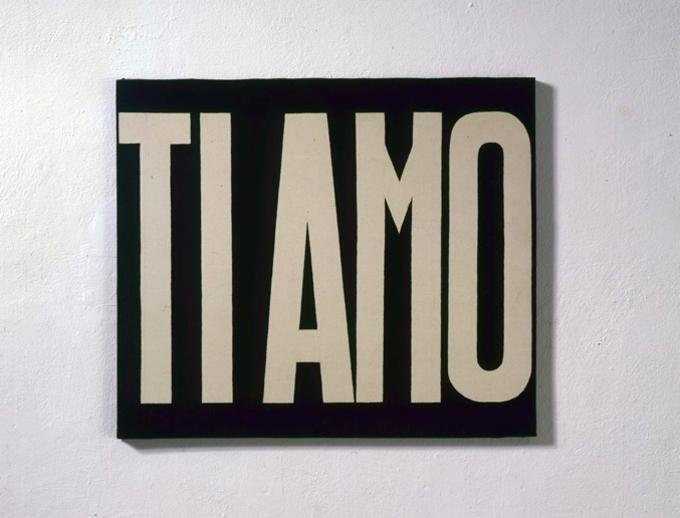 Michelangelo Pistoletto, Ti amo, 1965–66 acrilico su tela. 60 x 70 cm Cittadellarte-Fondazione Pistoletto, Biella Foto: Paolo Mussat Sartor