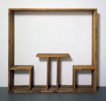 Michelangelo Pistoletto, Quadro da pranzo , 1965 legno. cm 200 x 207.6 x 44.1 Cittadellarte- Fondazione Pistoletto, Biella Foto: Paolo Pellion di Persano