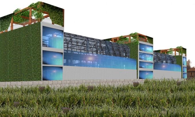 Stazione di San Cristoforo, progetto render di Maria Mirenda Wwf