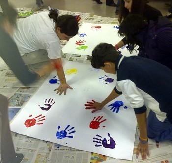 Murales con impronta mani