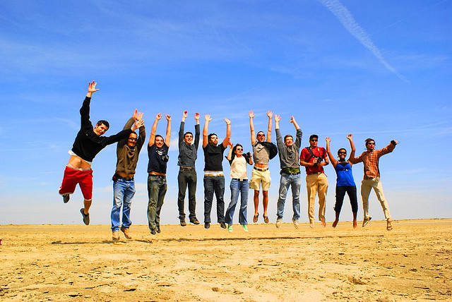 Le jump des People, album di Elvire.R/flickr