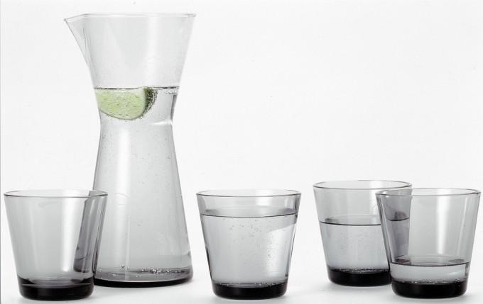 Set Kartio in vetro cristallo disegnato da Kaj Franck nel 1958 e prodotto da Iittala