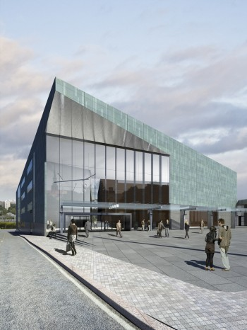 Vista esterna dell'Helsinki Music Center - Design: LPR Architects, Turku - Credit immagine: LPR - Architects