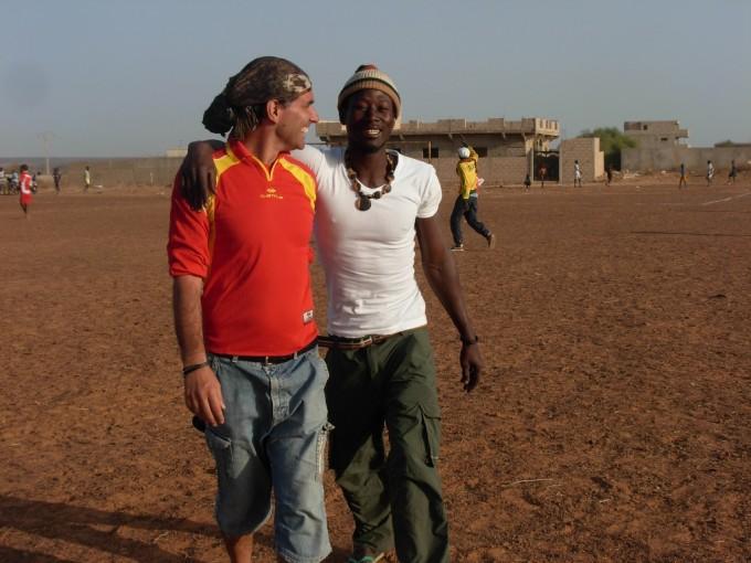 Emiliano Sbaraglia  con il suo amico Ibra