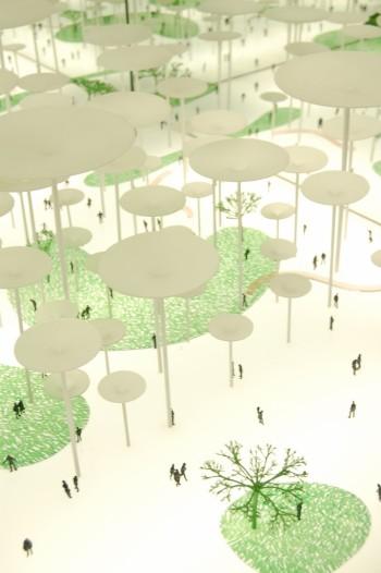 Bosco di Architettura,  2007.  Modello teorico di Architettura senza perimetro e senza funzione Coll. Daniele Macchi Collezione Friedman Benda (New York)