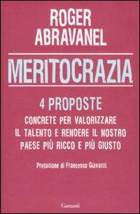 Cover libro - Roger Abravanel, Meritocrazia