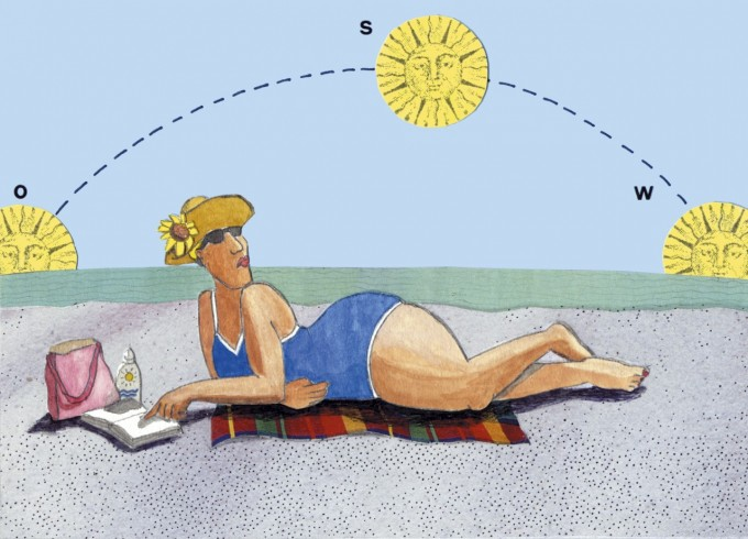 A woman suntanning on the beach, Image by © ImageZoo/Corbis