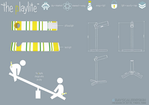 Playlite, design di Kurt Stapelfeldt, ispirato dal progetto EnergEco di Lyle Hayden & Giovanni Quezada. ©California Dream Week