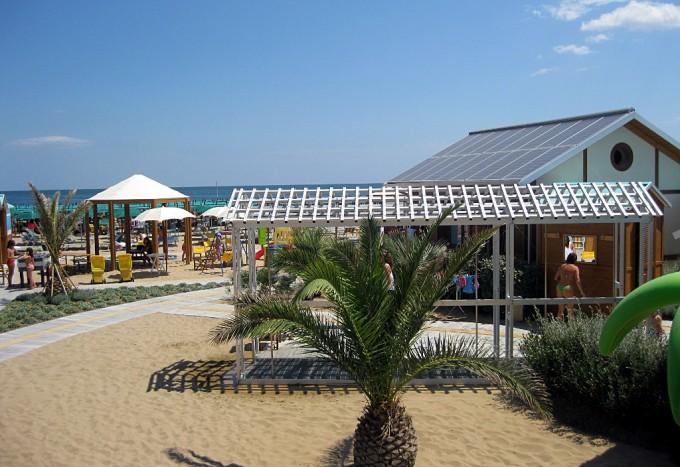 Fotovoltaico sopra la casetta residenziale del gestore, foto di Graziella Turiello