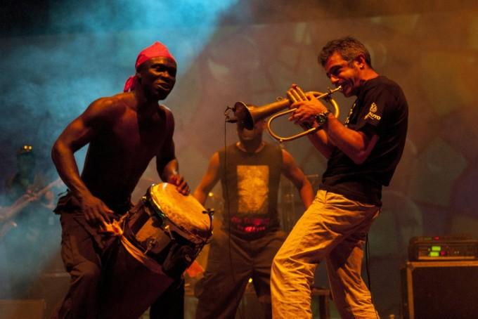 Time in Jazz 2011 - Paolo Fresu e Les Tambours de Brazza, foto Massimo Schuster