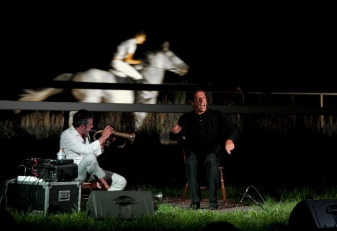 Time in Jazz 2011 - Paolo Fresu e Marco Baliani, foto Massimo Schusterb