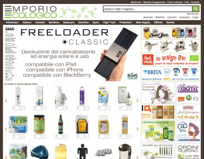Emporio Ecologico, homepage