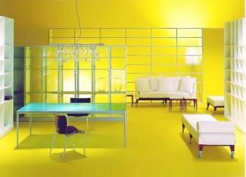 Studio soggiorno, progetto di Philippe Starck