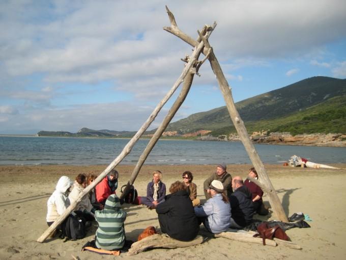 Nada Yoga sulla spiaggia di Cala di Forno, Parco dell'Uccellina - GR