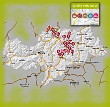 Cartina Interattiva della Valle Isarco