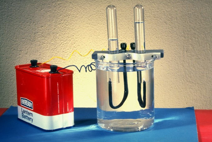 Electrolysis of Water, Image by © Lester V. Bergman/CORBIS