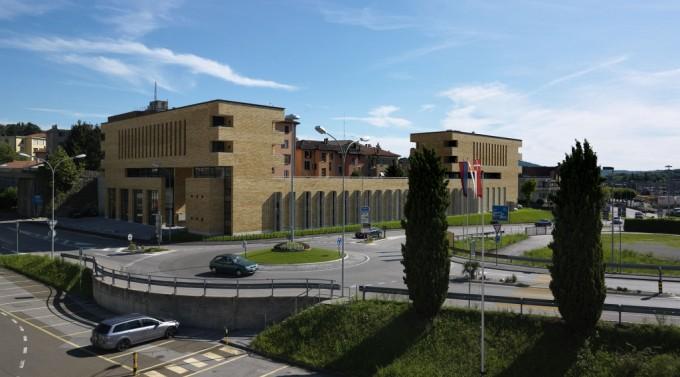 Palazzo Fuoriporta, Mendrisio, Svizzera (2005-2011) (sede del nuovo ufficio dell'architetto Mario Botta) Foto di Enrico Cano