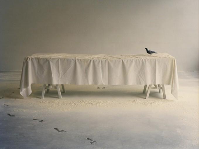 """""""Ultima cena"""",Julia Krahn, carta da parati (mostra """"Mangia l'Arte"""")"""