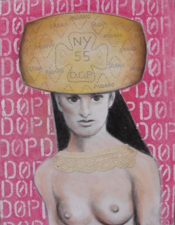 """""""Route 55"""", Michela Martello, tecnica mista su tela (mostra """"Mangia l'Arte"""")"""