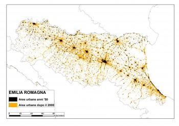 """Mappa di """"EMILIA ROMAGNA"""" anni 50 - 2000"""