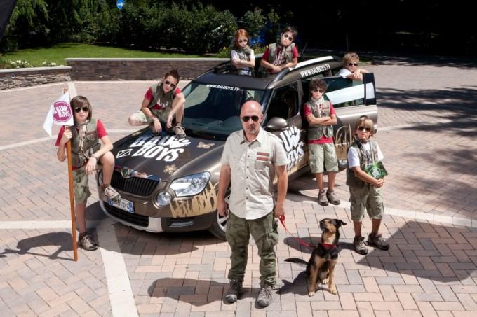 Marco Berry con i ragazzi di uno dei suoi ultimi programmi televisivi - Bau Boys