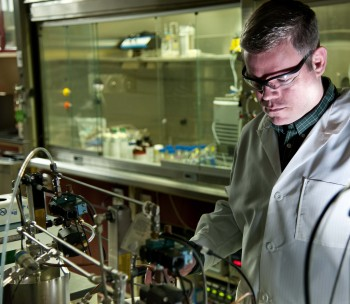 Graphene, Frederick Cox, branch chief of ECBC's Chemical, Biological and Radiological Filtration Group, manages 25 scientists who are entrusted with filters that protect Warfighters and civilians from potentially dangerous airborne chemicals and biological hazards. - Photo Credit: Tom Faulkner/flickr