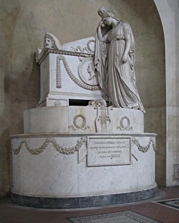 Monumento a Vittorio Alfieri di Antonio Canova,  Firenze, Santa Croce