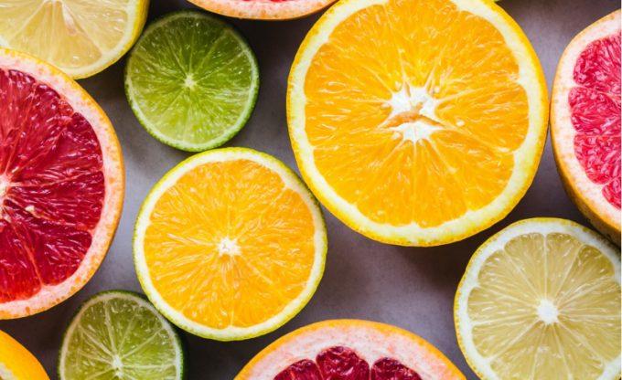 agrumi, ricci di vitamina c