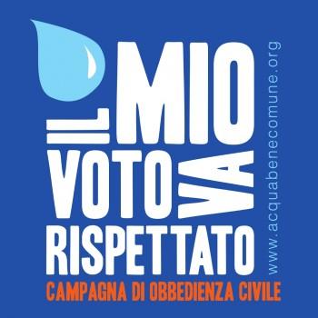 referendum Giornata Mondiale dellAcqua Forum diritto allacqua Clini campagna di obbedienza civile bollette acqua pubblica acqua