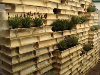 Struttura architettonica con il bambù