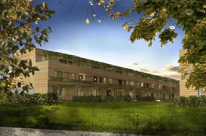 """Il progetto di pianificazione urbana """"City of Wood"""" (con Hermann Kaufmann ZT, 2012)"""