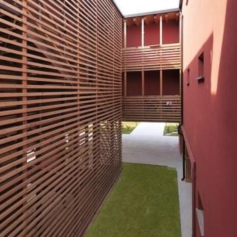 Il complesso residenziale costruito a Motta di Livenza (Treviso) per conto di Ater Treviso (foto di Daniele Domenicali)