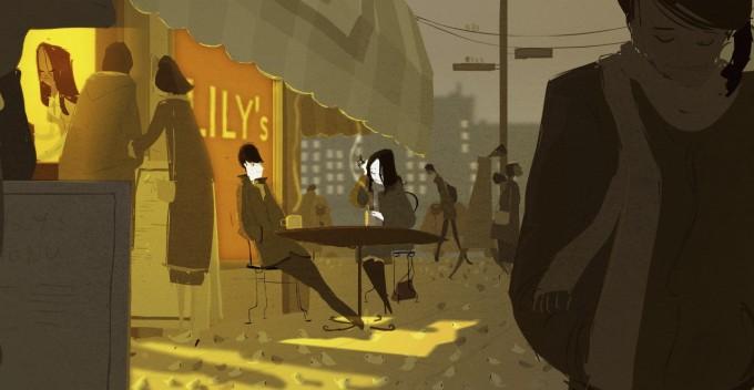 Illustrazione della società moderna