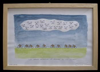 """Opera di James Irvine """"In venti seguono la squadra da una nuvola"""""""