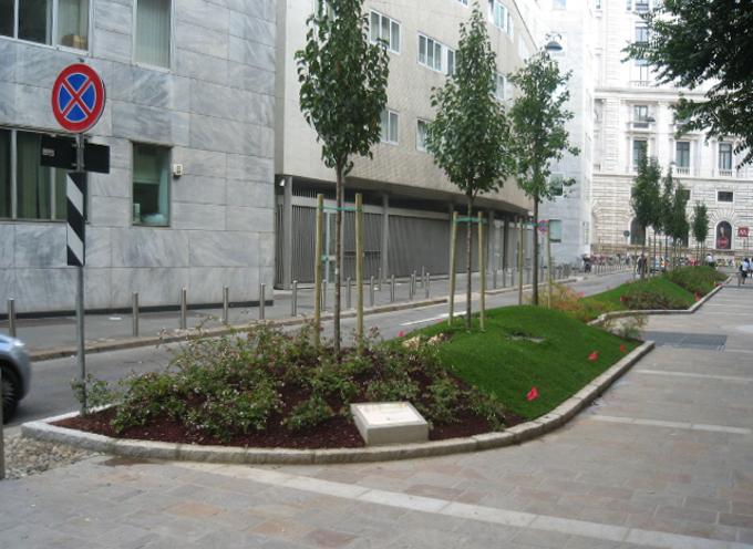 Sistemazione a verde, Via Montebello, Milano