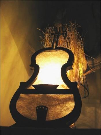 EDILANA ECODESIGN lampada violoncello carta di lana alle vinacce di cannonau e miele