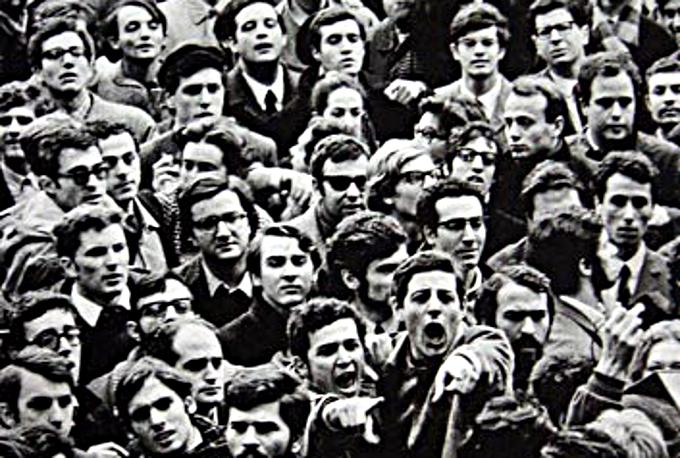 Manifestazione a Roma il 24 febbraio 1968, da Wikipedia