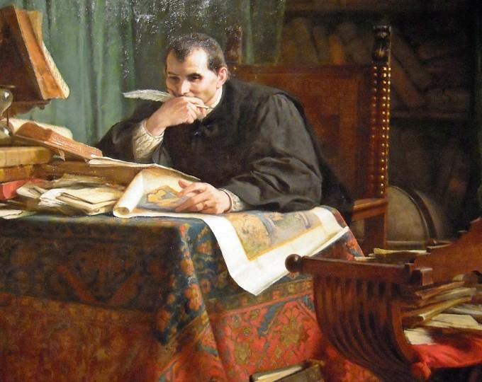 Niccolò Machiavelli nello studio, Stefano Ussi, 1894 - Wikimedia