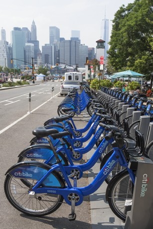Bicycle sharing system, New York City, New York State, USA