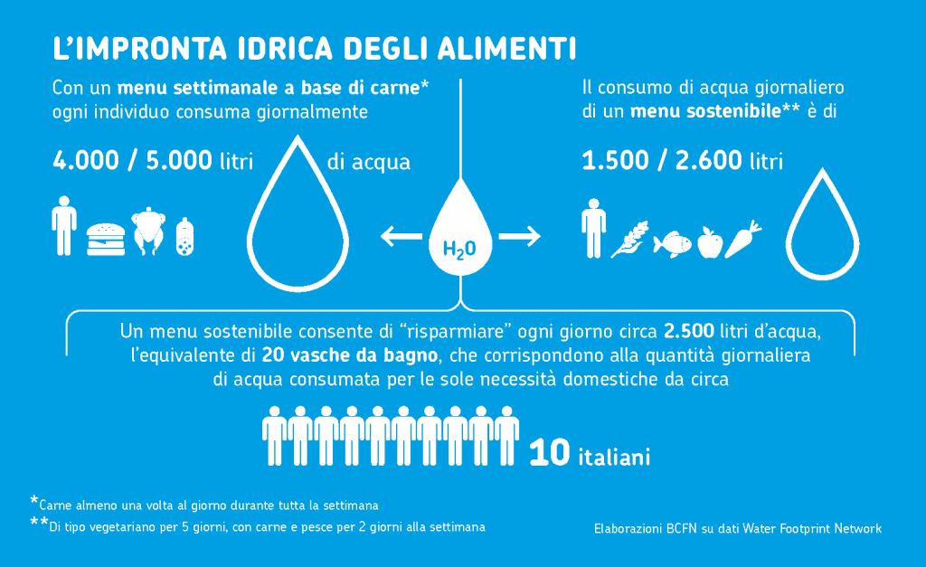 water grabbing water footprint land grabbing filiera alimentare consumo idrico Coldiretti Agricoltura acqua